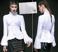 Chemisier gothique lolita jacquard dentelle jabot baroque victorien Punkrave B