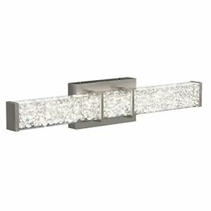 Riviera Vanity Light, Brushed Nickel