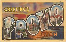 Provo, UTAH - LARGE LETTER - 1938