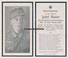 Orig. Sterbebild A.R.R.563 Nachrichten Gefreiter + KURSK Russland 1943