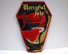mercyful fate coffin red and yellow logo EMBROIDERED PATCH