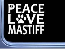 "Mastiff Peace Love L624 Dog Sticker 6"" decal"