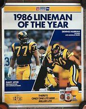 "1986 Los Angeles Rams Jeter Harrah Lineman of the year 18 x 23"" Football Poster"