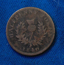 1840 Nova Scotia one half 1/2 penny copper token