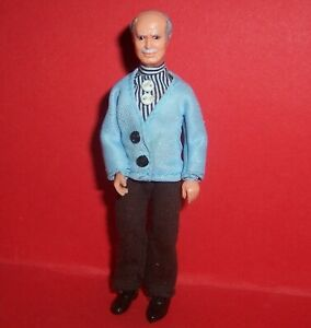 VINTAGE 1970's LUNDBY DOLLS HOUSE GRANDFATHER GEORGE DOLL