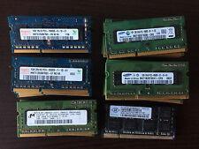 Mémoire DDR3 1 Go SO DIMM 204 broches 1066 MHz PC2-8500 Samsung Hynix Nanya MT