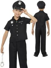 Child New York Cop Costume Policeman Boys Book Week Day Fancy Dress Outfit + Hat
