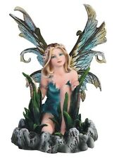 "6.5"" Blue Water Fairy Statue Figurine Figure Fantasy Decor Sculpture Magic"