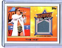 WWE The Miz 2015 Topps Event Used SummerSlam 2014 Mat Relic Card