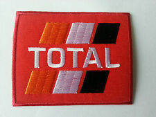 MOTORSPORTS RACING TYRE SEW ON / IRON ON PATCH:- TOTAL (b) FUELS RED BLOCK
