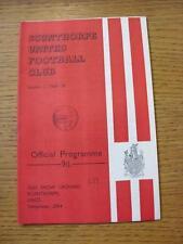 22/11/1969 Scunthorpe United V PORT VALE