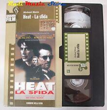 film VHS HEAT LA SFIDA Al Pacino Robert De Niro CARONATA CORRIERE (F36) * no dvd