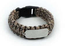 Paracord Travel ID Survival Bracelet. Free engraving and Emergency wallet Card.