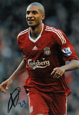 LIVERPOOL * DAVID N'GOG SIGNED 12x8 ACTION PHOTO+COA