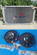 Radiateur en Aluminium + ventilateurs pour NISSAN PATROL GQ 2.8 4.2 Y60 Diesel Essence TD42&3.0