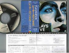 PETER GABRIEL Plays Live JAPAN CD 32VD-1046 w/OBI 1986 1st issue BLACK TRIANGLE