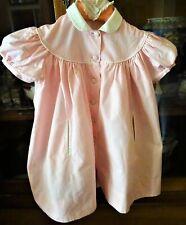 Robe de petite fille en vichy rose et col blanc 2 poches