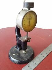 COLLECTABLE Antique Randall Stickney Dial Indicator Gauge & Cast Iron stand COOL