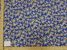 ROYAL BLUE HAWAIIAN FLORAL PRINT HP-508 100% COTTON FABRIC $5.50/YARD