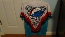Grateful Dead Space Your Face Tie-Dye T-Shirt Size Large Liquid Blue New