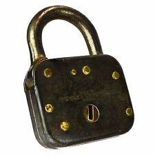 YALE Padlock Brass Old Vintage Small 1484 50 Pad Lock (no key)