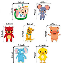 Cocomelon & Friends birthday party supply Wall Cutouts 7pc room decor decoration