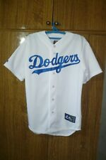Los Angeles Dodgers Majestic MLB Jersey LA Baseball Shirt White Men Size M