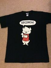 Big Bang Theory T Shirt Mens Large Bazinga Cat Kitty Once Only Worn