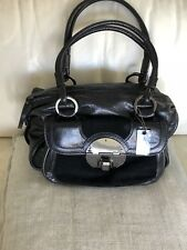 BNWT MIMCO LEATHER Standoff Zip Top Bag In Black   RRP $399