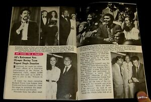 MUHAMMAD ALI 1979 RETIREMENT PARTY & CAREER & FAMILY PICTORIALS JET MAGAZINE
