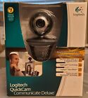 Logitech Webcam Quickcam Communicate Deluxe S7500 with Built In Mic includes CD