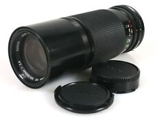 100-200MM F5.6 CANON LENS FD MOUNT W/ FRONT   REAR CAPS