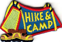 HIKE & CAMP Iron On Patch Scouts Cub Girl Boy Sports Hiking Camping