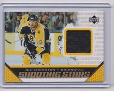 05-06 2005-06 Upper Deck Shooting Stars Jerseys #SJT Joe Thornton Boston Bruins