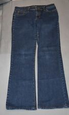 Women Ralph Lauren Dark Blue Blue Jeans Sz 4 Boot Cut 98% Cotton 2% Elastane