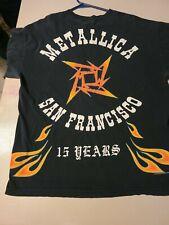 metallica 1996 long sleeve 15 year anniversary vintage original shirt l.a. la