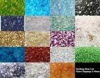 100g Glass Chippings Various Sizes Home Garden Wedding Mosaic Craft Memorial