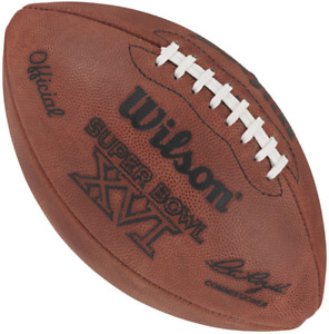 SUPER BOWL XVI 16 Authentic Wilson NFL Game Football - SAN FRANCISCO 49ers