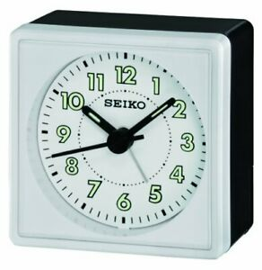 Seiko Clocks Quiet Sweep Bedside Alarm clock #QHE083WLH