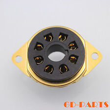 8pin Octal Bakelite Tube socket for EL34 6J5 6F6 GZ34 5U4G Chassis Mount Goldx1