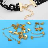 12pcs Sets Bracelet Necklace Chain Ends Extender Lobster Clasp Jewelry Findings