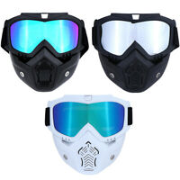 Motorcycle Face Shield Mask Goggles Motocross MX ATV Dirt Bike Glasses Eyewea wr