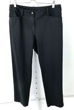 EILEEN FISHER Heavyweight Rayon Knit Pants Zip Fly Jeans Charcoal Gray Black M