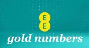 gold unique easy to remember mobile phone numbers on EE network - 3 for 2 offer