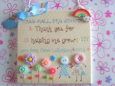 PERSONALISED TEACHER THANK YOU GIFT CHILDMINDER PRE SCHOOL NURSERY PLAQUE