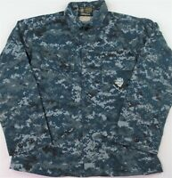 Military Issue Navy Digital Camo Jacket Camouflage Fatigue Blue Medium Regular
