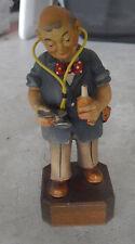 "Vintage 1960s ANRI Wood Pediatrician Doctor Man Figurine 6 5/8"" Tall"
