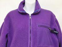 Patagonia Womens 10 Purple Fleece Zip-Front Jacket Vintage Made in USA