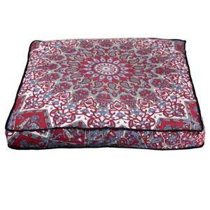 """New Maroon Star Ombre Mandala 35"""" Indian Square Floor Pillow Case Cushion Covers"""