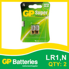 GP Super Alkaline N Battery (910A,MN9100,LR1) card of 2 [AUDIO, SMOKE ALARM]